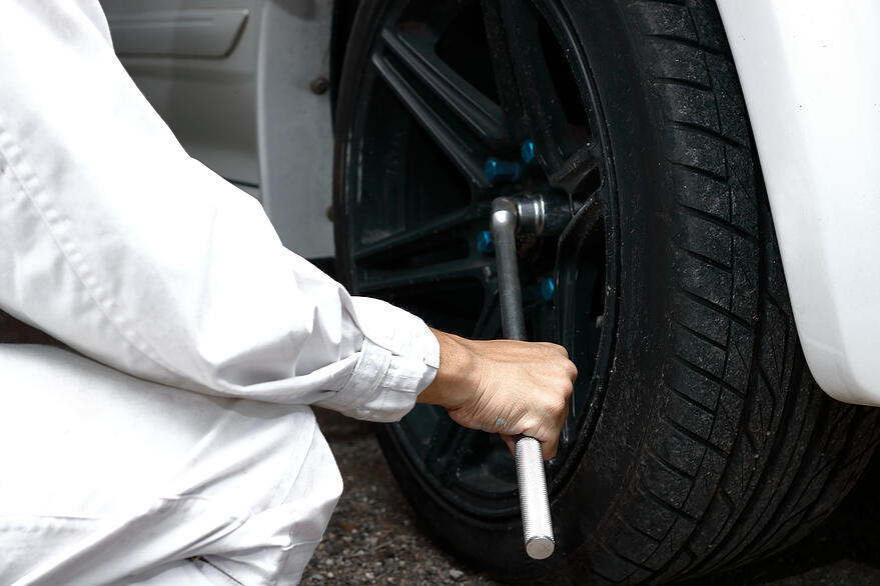 montaje de rueda